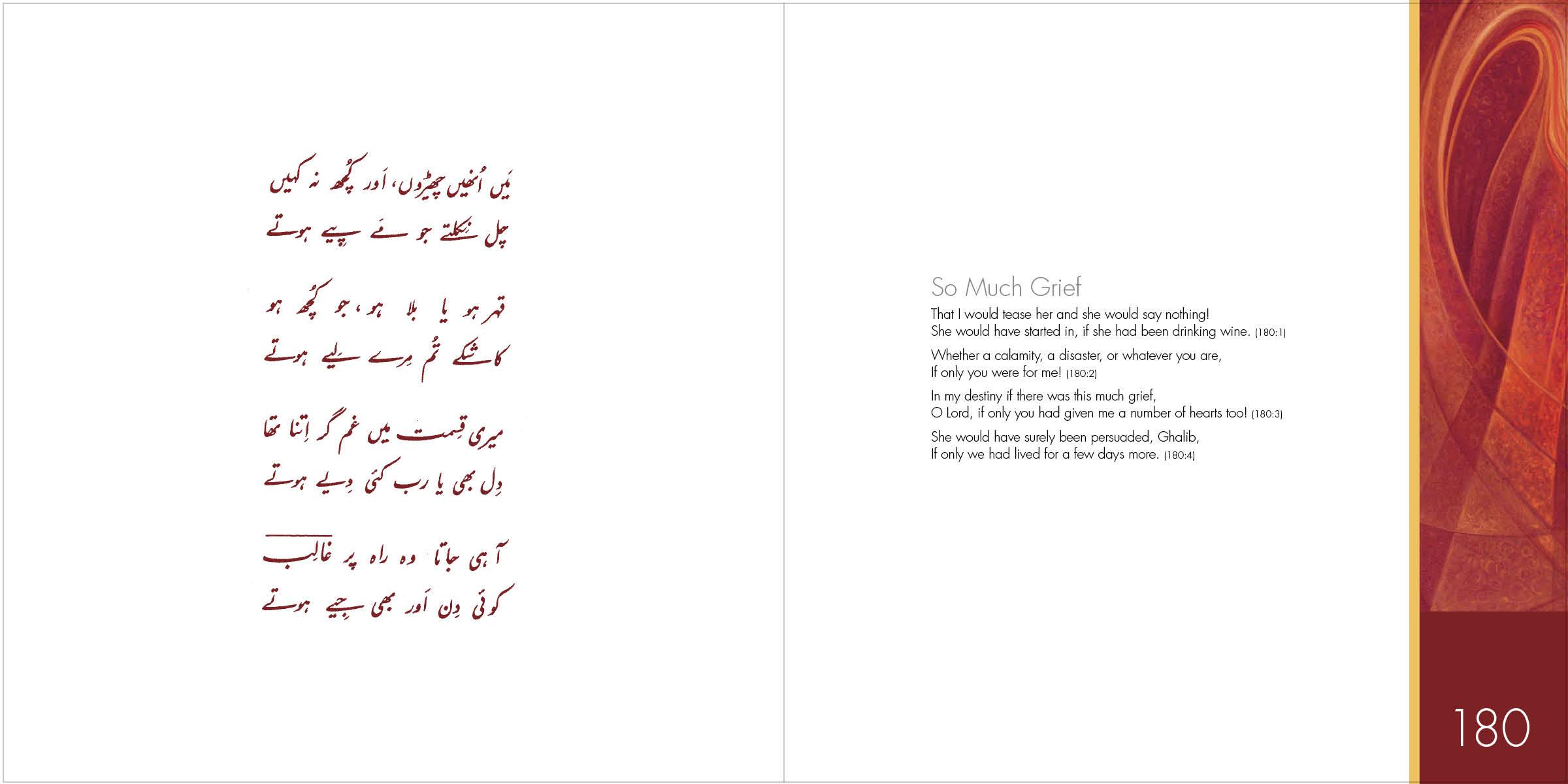 Ghalib's Urdu Love Poems – complete translations and recitations